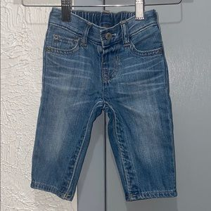My first pair easy slim baby gap jeans 6-9 Mths